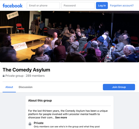 Comedy Asylum Facebook Group - Click to enlarge the image set
