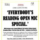 EVERYBODY'S READING FEST - OPEN MIC